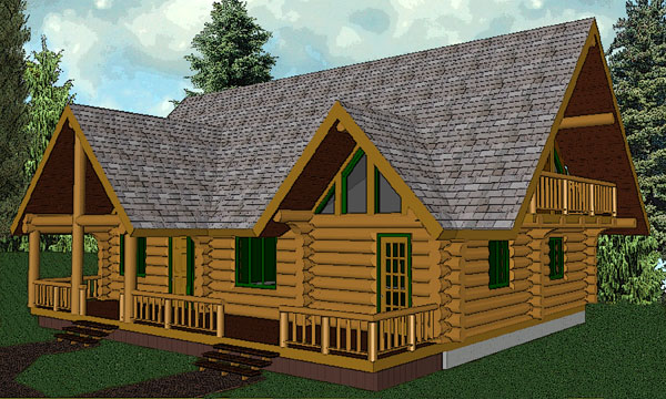 canmore_log_home_rendering