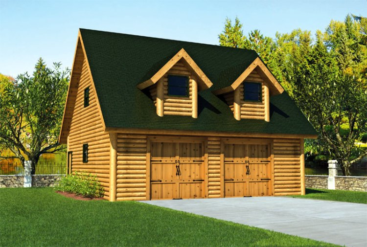garage_log_home_rendering