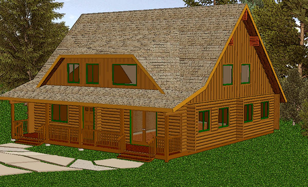 kelowna_log_home_rendering