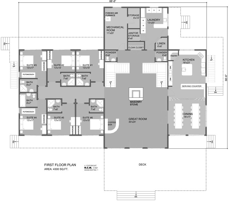 klondike_log_home_floor_plan
