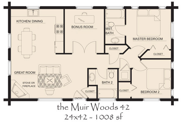 Muir Woods Log Home Floor Plan Duncanwoods Log Amp Timber