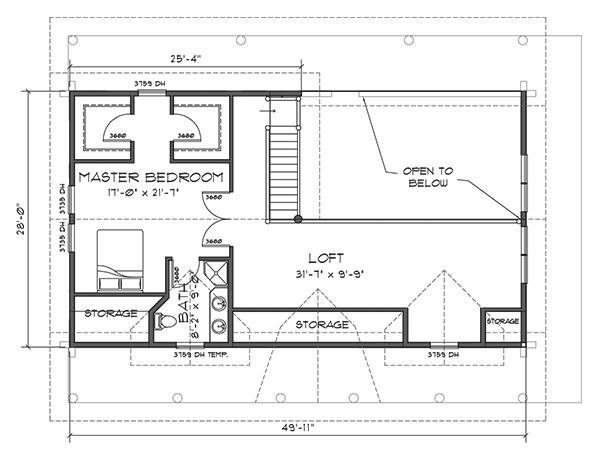 Northwoods Log Home Floor Plan