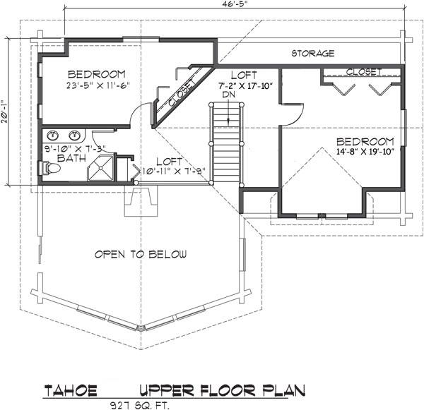Tahoe Log Home Floor Plan