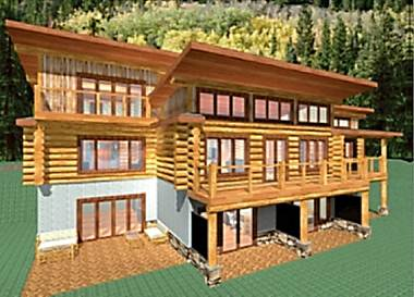 Mt. Lome Log Home Floor Plan