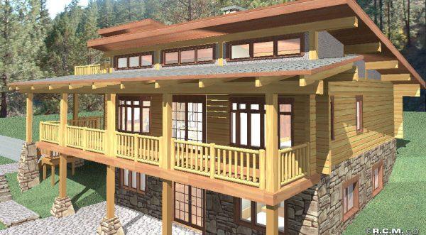 Telegraph Creek Log Home Floor Plan