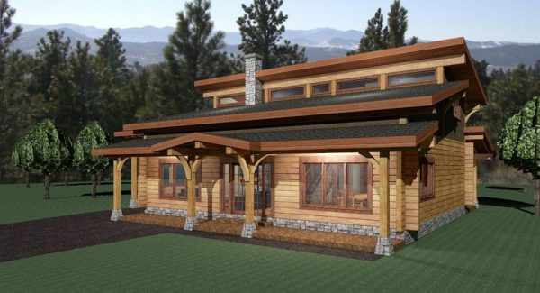 Wheaton Valley Log Home Floor Plan