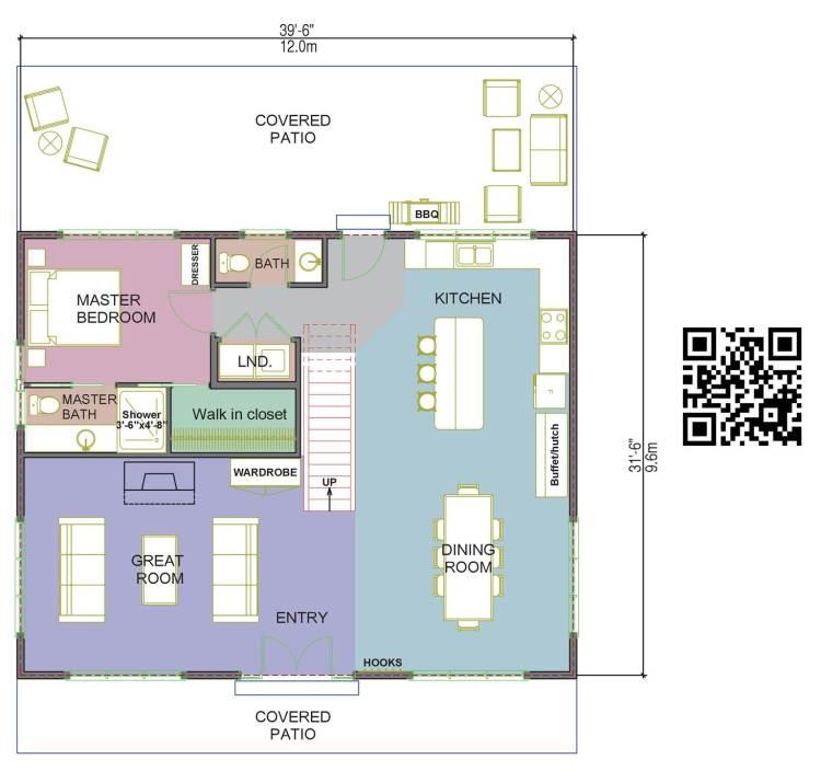 Wheaton Valley Log Home Floorplan