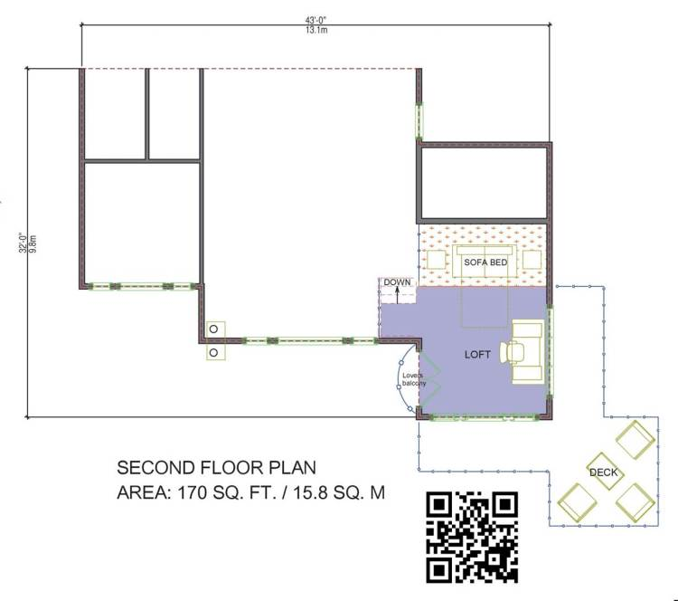 White Horse Log Home Floor Plan Top Floor